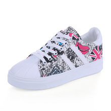 Graffiti Single Shoes Female Students Leisure Sports Flat – Bottomed Casual Shoes Fashion New Women Casual Shoes Size EUR 35-39