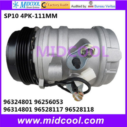 HIGH QUALITY AUTO AC COMPRESSOR SP10 FOR DAEWOO 96324801 96256053 96314801 96528117 96528118HIGH QUALITY AUTO AC COMPRESSOR SP10 FOR DAEWOO 96324801 96256053 96314801 96528117 96528118