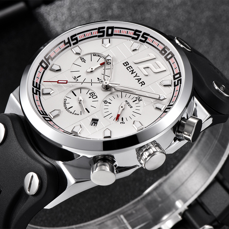 BENYAR Men Watch Luxury Fashion Silicone Sport Quartz Watch Waterproof Chronograph Multifunction Man Clock Relogio MasculinoBENYAR Men Watch Luxury Fashion Silicone Sport Quartz Watch Waterproof Chronograph Multifunction Man Clock Relogio Masculino