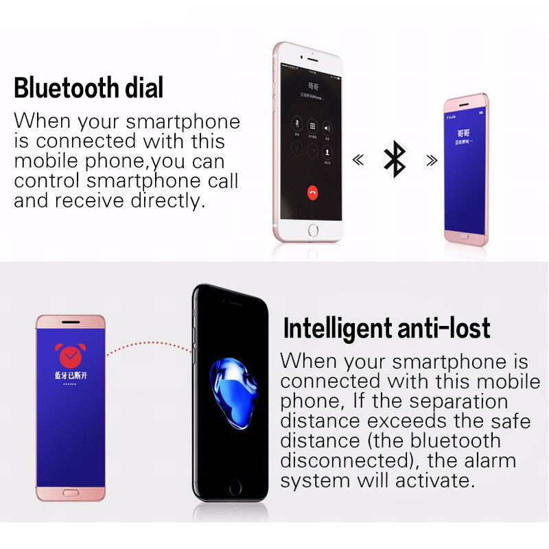 US $29 99  Remote control camera!Anti lost!Metal Mobile cell Phone V26  Bluetooth dialer suit for Android smart phone such as mi5 redmi-in  Cellphones