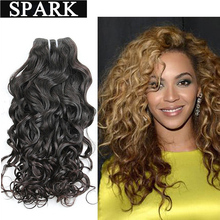 Indian Virgin Hair Water Wave 8A Ombre Human Hair 3 Bundles Remy Human Hair Weave Wavy Natural Wave Mocha Hair Products OWW152