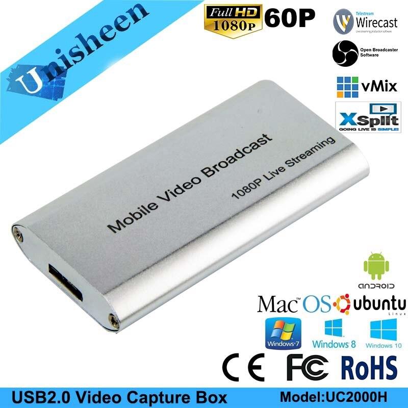 USB2.0 60FPS HDMI a USB VIDEO captura Dongle juego Streaming transmisión en directo 1080 P OBS/vMix/Wirecast /Xsplit-in Tarjetas sintonizadoras de TV y video from Ordenadores y oficina on AliExpress - 11.11_Double 11_Singles' Day 1