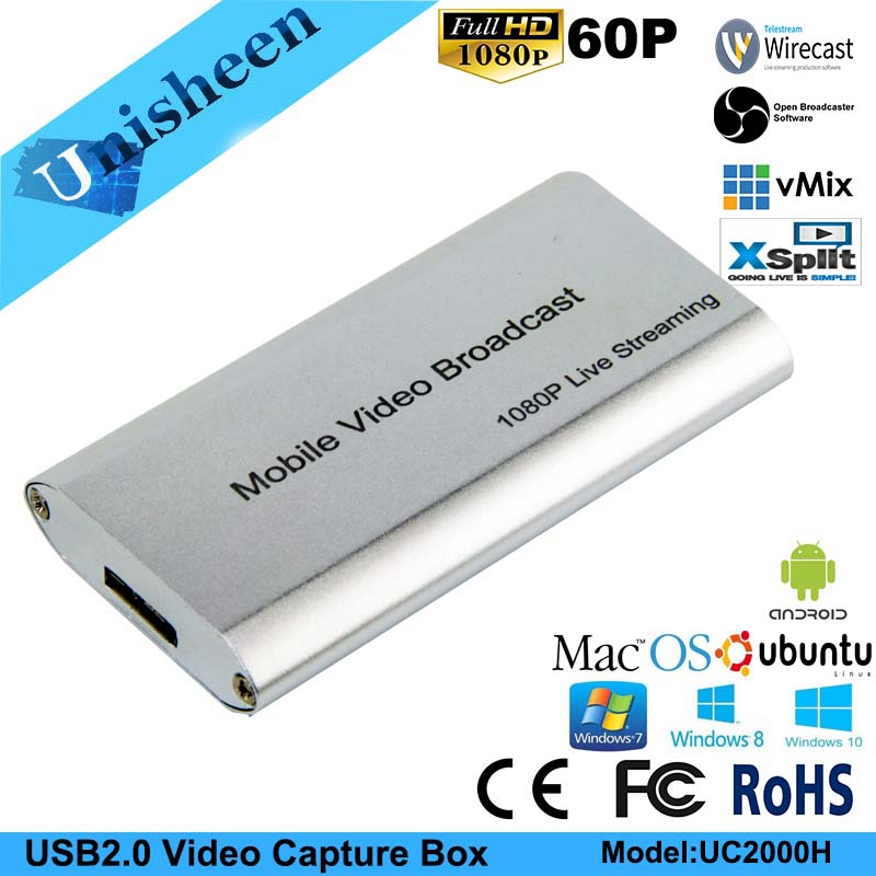 цена USB3.0 60FPS HDMI VIDEO CAPTURE Dongle Game Streaming Live Stream Broadcast 1080P OBS/vMix/Wirecast/Xsplit