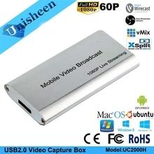 USB3.0 60FPS HDMI к USB3.0 видео ключ записи игры потоковое поток трансляции 1080 P OBS/vMix/Wirecast/Xsplit