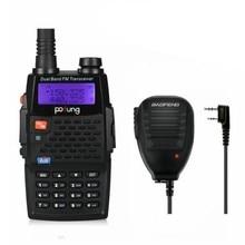 Baofeng BF-F9+TP Two-Way Radio Portable Dual Band UHF/VHF Ham 136-174/400-520MHz Tri-Power 1/4/8W  Original Remote Speaker
