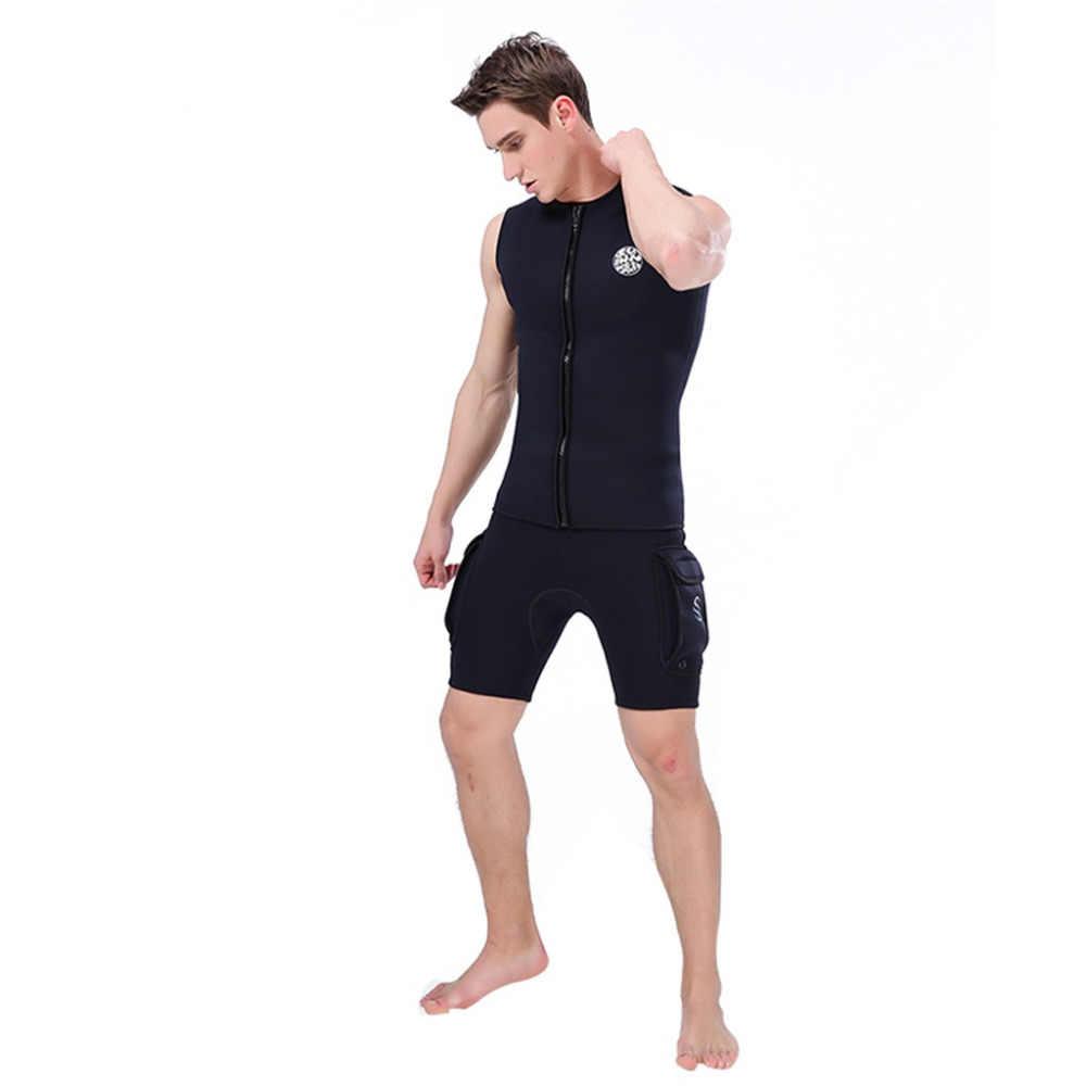 Multicolor M-3XL mannen 3mm Zwart Neopreen Wetsuit Vest Mouwloze Surf Surfen Duiken Pak Top #5A24