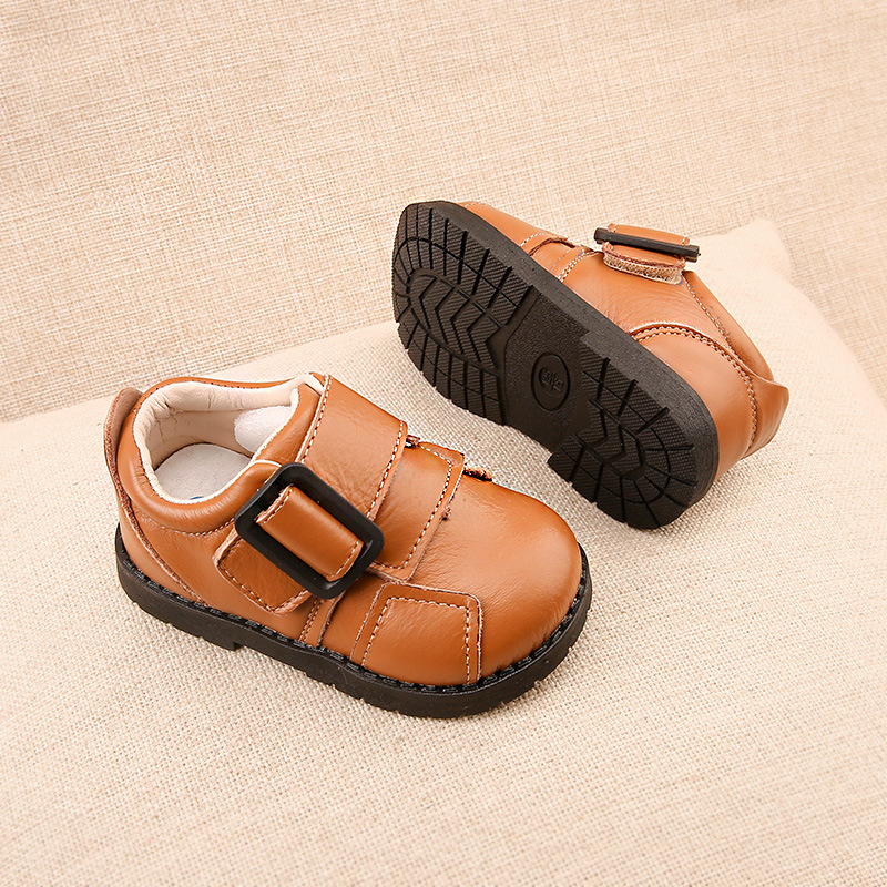 Boys Leather Shoes Brown Single Shoes Baby Toddler Shoes Real Leather Casual Spring New Fashion Children s First Walkers