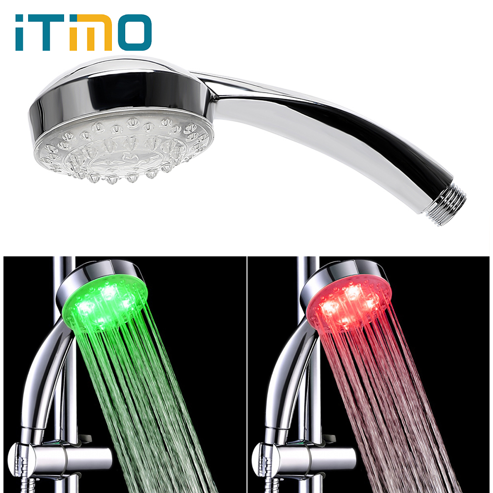 ITimo Creative Luminous 7 Colors Changing LED Shower Light For Bathroom Glow Novelty Lighting