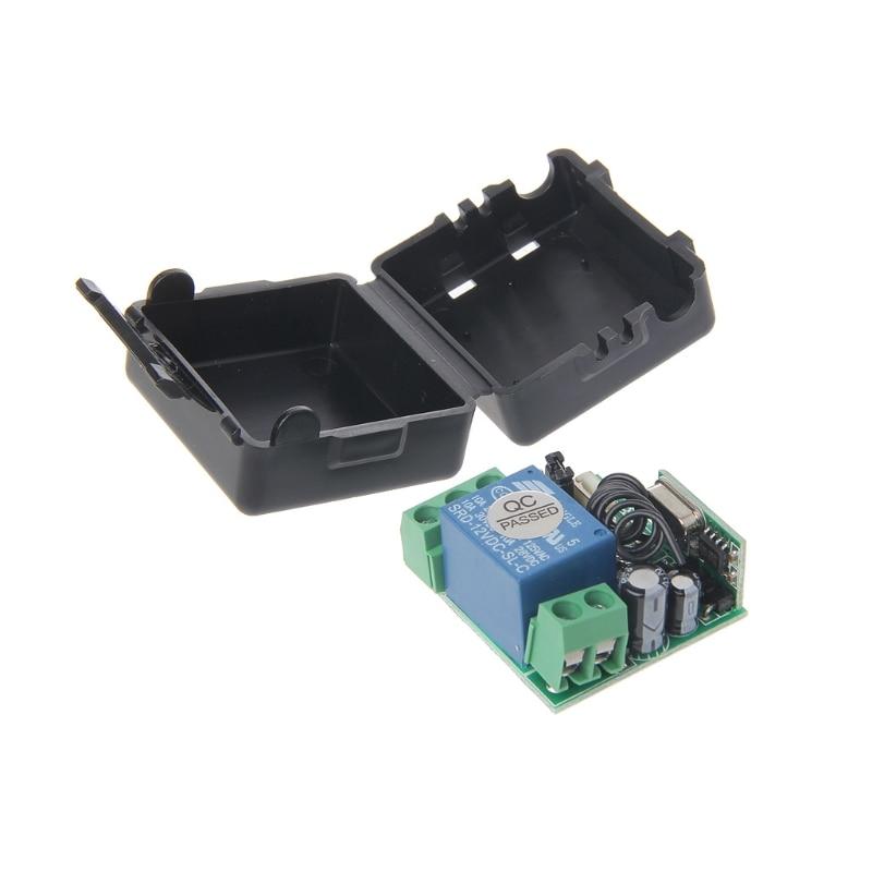 1 PC DC 12V 10A Relay 1CH Wireless RF Remote Control Switch Transmitter + Receiver 315MHz/433MHz 315mhz wireless relay module switch remote control switch 9v 12v 24v 1ch 10a receiver wall transmitter for light gate motor