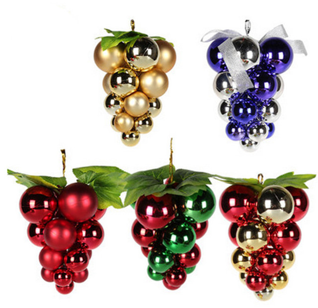 Christmas decorations The Christmas tree to hang grape bunches Specular  dumb light grape ball ornaments - Christmas Decorations The Christmas Tree To Hang Grape Bunches