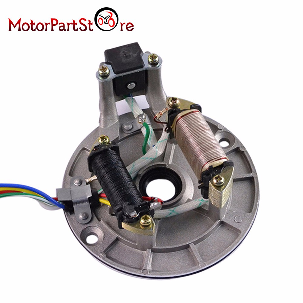 Magneto Stator Ignition Plate 2 Pole Coil 5 Wire For 50cc 70cc 90cc 110cc Atv Key Switch Wiring 125cc Taotao Sunl Kazuma Pit Bike Quad In Motorcycle Motor From Automobiles