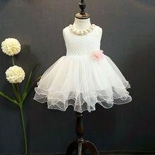 Prenses Çocuk Kız Elbise Dantel Çiçek Balo Parti Resmi Kolsuz Braidmaid Tül Tutu Kız Elbise 2-7Y
