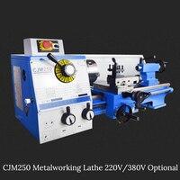 750 Вт Металлообработка Токарный станок 220 В в В/380 В дополнительно 80 1600R/мин мини металлический токарный станок для обработки металла из нержа