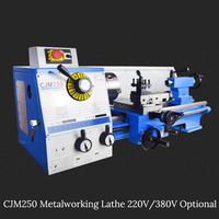 750W Metalworking Lathe Machine 220V/380V Optional 80 1600R/min Mini Metal Lathe for Metalworking Stainless Steel Processing