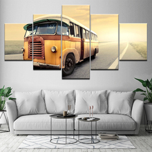 Modern Home Wall Art Decor Frame Pictures HD Prints 5 Pieces Retro Bus Transportation Car Painting On Canvas Poster Artwork