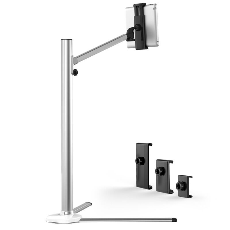 UP 6 Universal Aluminum Alloy Height Adjustable 2 in 1 Smartphone holder Tablet PC Floor Stand