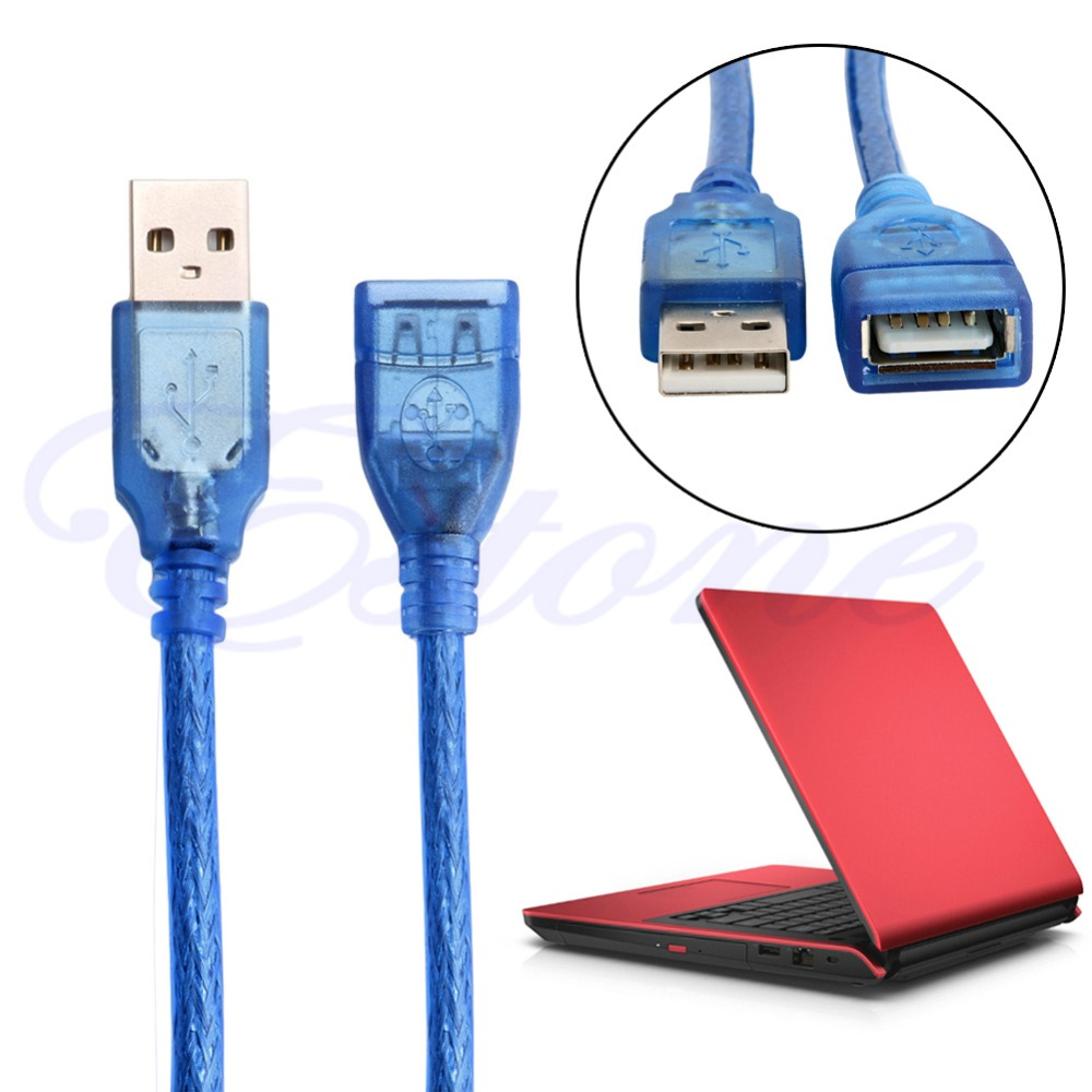 2017 USB 2.0 A Male to A Female Lead Extender Extension Cable 1.5m 3m 5m 10m Blue NEW unitek y c414 usb 3 0 type a male to female extender flat cable blue 1 5m