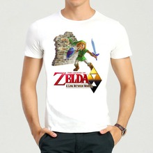 Adult Fashion Cartoon The Legend of Zelda T-Shirt Summer Short Sleeve White Cuccos H.F.C. Top Tees Shirt