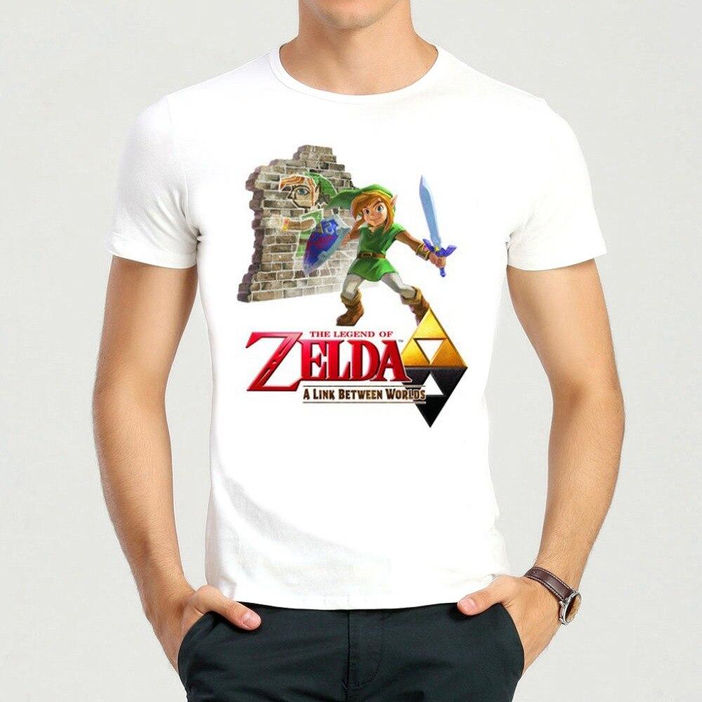 Dewasa Mode Kartun The Legend Of Zelda T Shirt Musim Panas Lengan Fantasia Pria Second Flash Hitam Pendek Putih Cuccos Hfc Top Tees Kemeja