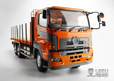 LESU 1/14 RC Model HINO 6*4 Flatbed Lorry Trailer Tractor Truck Metal Chassis цена 2017