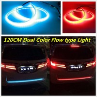 new cool car styling Anti rear end SUV 120CM Dual Color Flow Type Flowing LED Strip Trunk Tailgate Light
