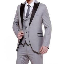 Мужской официальный деловой костюм, 3 предмета, 1 пуговица, набор для ужина, выпускного вечера, банкета, танцевальной церемонии (Блейзер