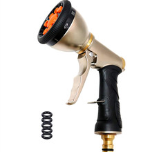 Pressure Power Washer, Garden Hose Nozzle, 9-Pattern Sprayer Water  Full Metal Body - Brass Flow Control Knob Washer Nozzle