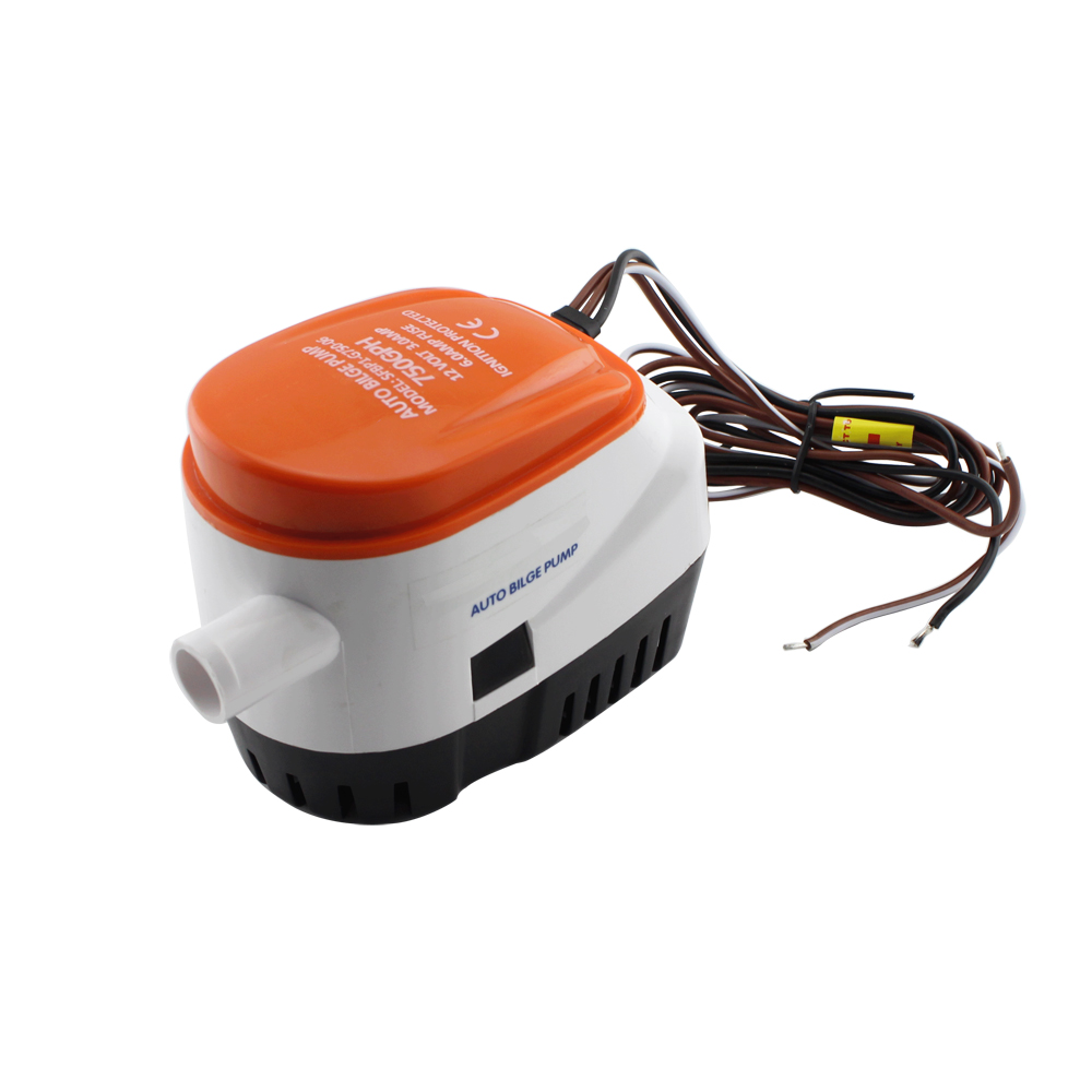 750GPH Automatic Boat Bilge Pump 12V DC Submersible Electric Water Pump Small 12 v volt 750 gph for Marine Boat 750gph 12v 24v dc submersible pump bilge pump cruise ship drain pump marine pump