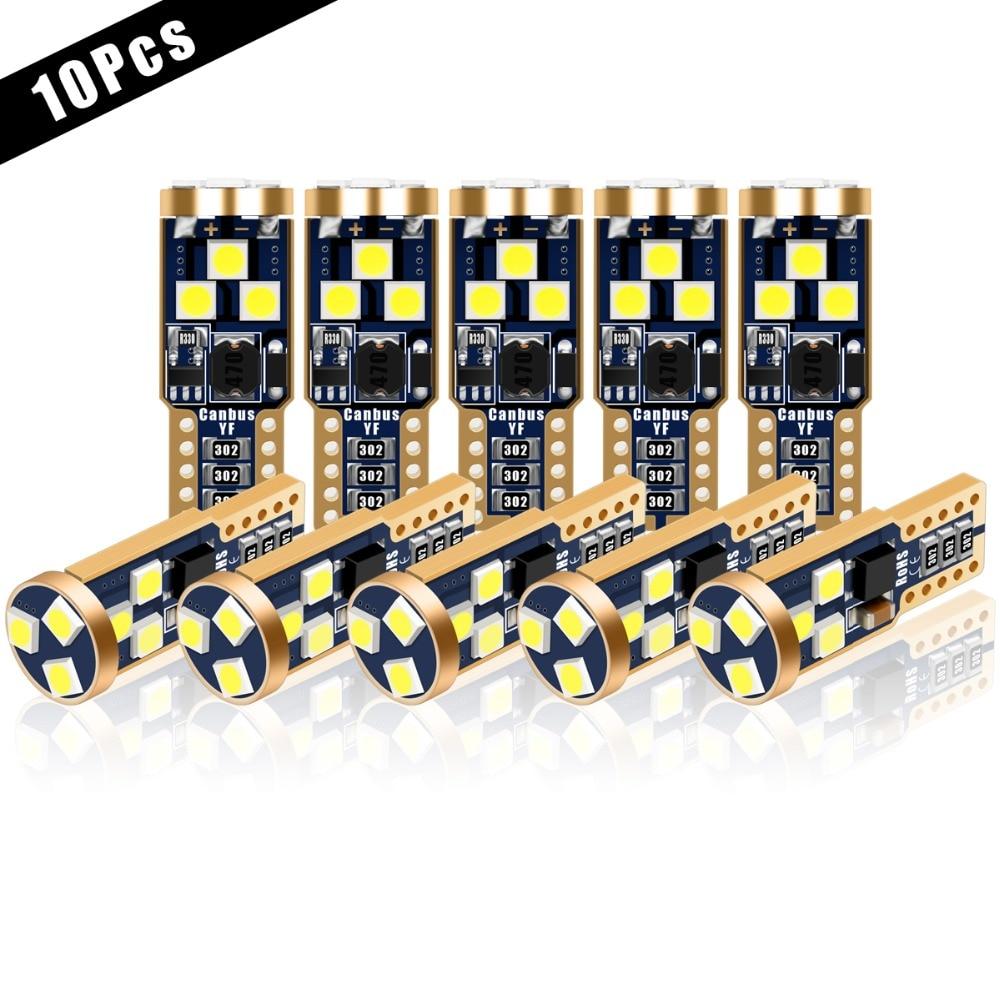 10Pcs T10 3030 9SMD LED Light Bulb Super Bright Turn Side License Plate Light Lamp Bulb car Parking signal light car styling
