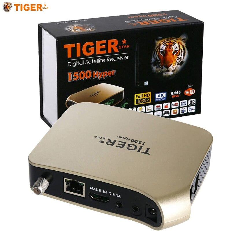 TIGER i500HYPER récepteur prise en charge par Satellite arabe IPTV abonnement 4K affichage HD récepteur de télévision numérique par Satellite récepteur DVBS2 FTA Tuner