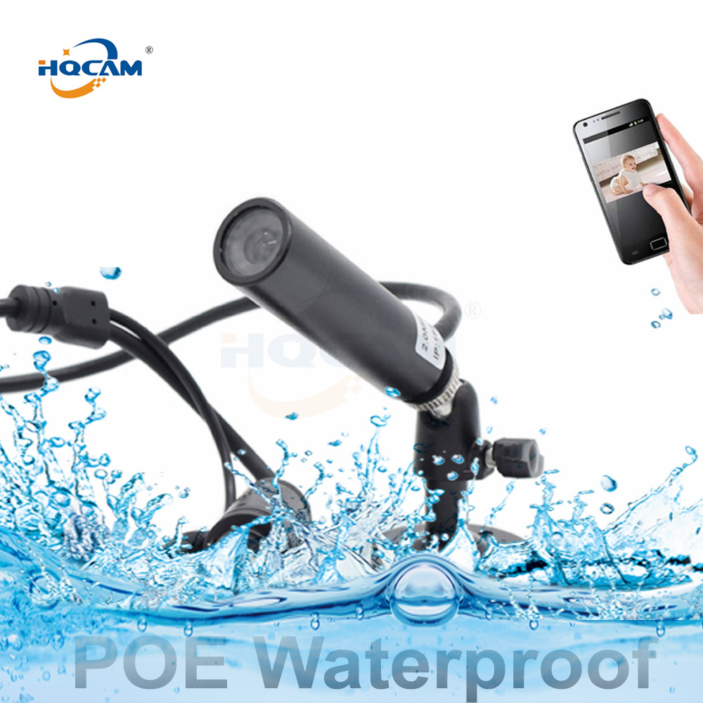 1080P POE Mini Waterproof Surveillance Network Support Onvif P2P Web Mini Ip Camera Mini Bullet Underwater Private Police Mine