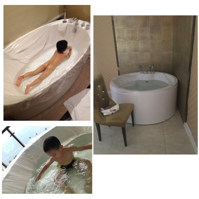 Online Shop 10PCS Big Disposable Travel Bathtub Film Foldable ...