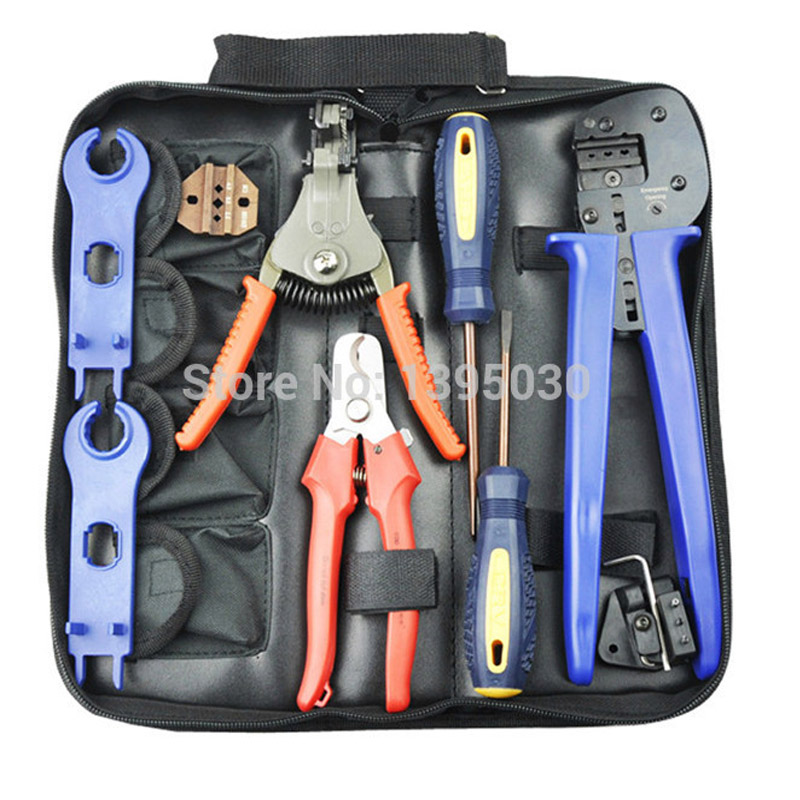 ФОТО  20Sets/Lot A-2546B Combination Cutting Crimping Stripping Pliers For Solar PV Tool Kits With Test Wire