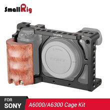 SmallRig A6300 Cage Rig w/ Wooden Handgrip for Sony A6000/A6