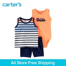 Carter s 3 Piece baby children kids clothing Boy Summer Neon Little Short Set 121I415