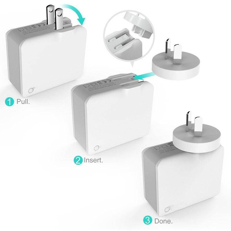 INGMAYA Resladdare USB 4-portar 22W Power 2.4A Charge För iPhone 5S - Reservdelar och tillbehör för mobiltelefoner - Foto 5