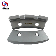 RIJILEI 12Pcs/lot Three segments diamond grinding disk for concrete Grinding disc for floor marble Diamond grinding wheel L401B цена 2017