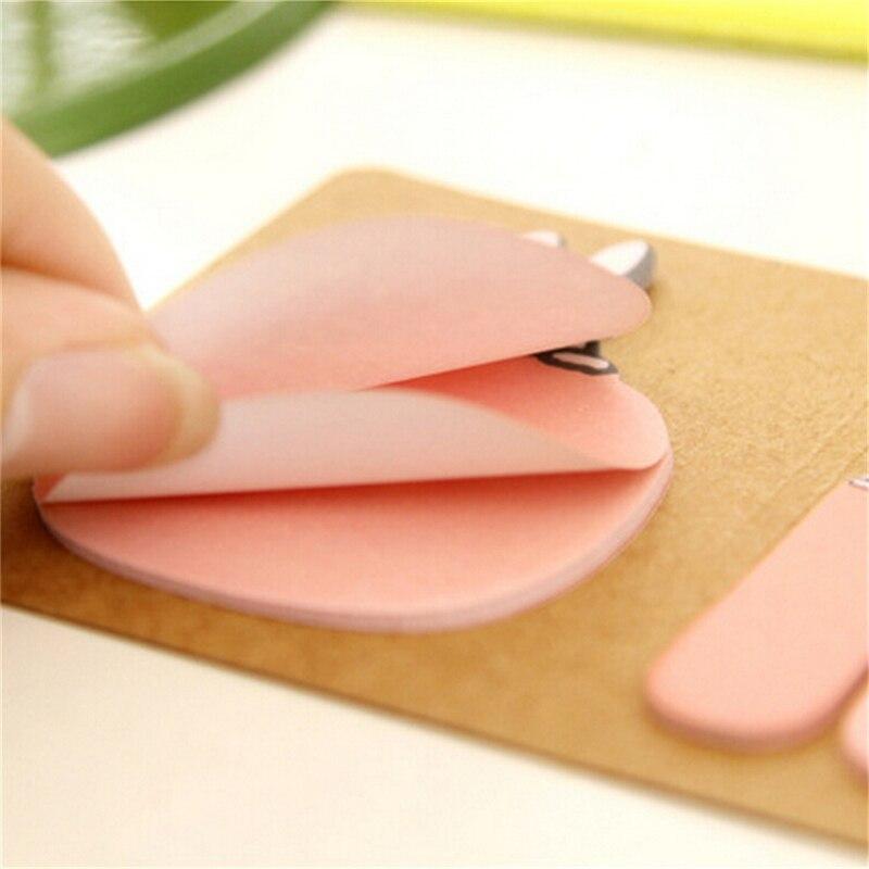 2017 Cute Novelty Kawaii Animal Pig Rabbit Bear Sheep Kraft Paper Notes Bookmark Gift Stationery Planner Mini Memo Pad Sticky Notebooks & Writing Pads