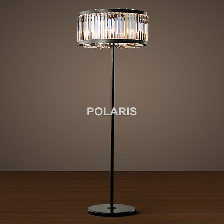 Factory Outlet Modern Vintage Round Crystal Floor Lamp Light Home ...