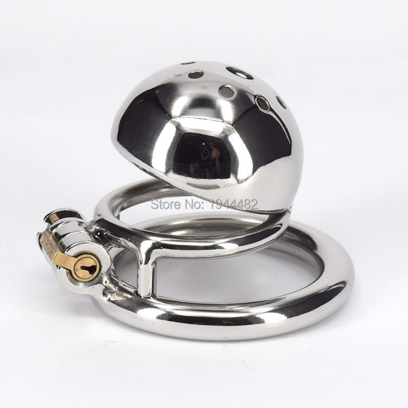 Buy SODANDY Metal Chastity Devices Small Stainless Steel Bondage Cock Cage Male Penis Locking Ring Fetish Product Sex Toy Man