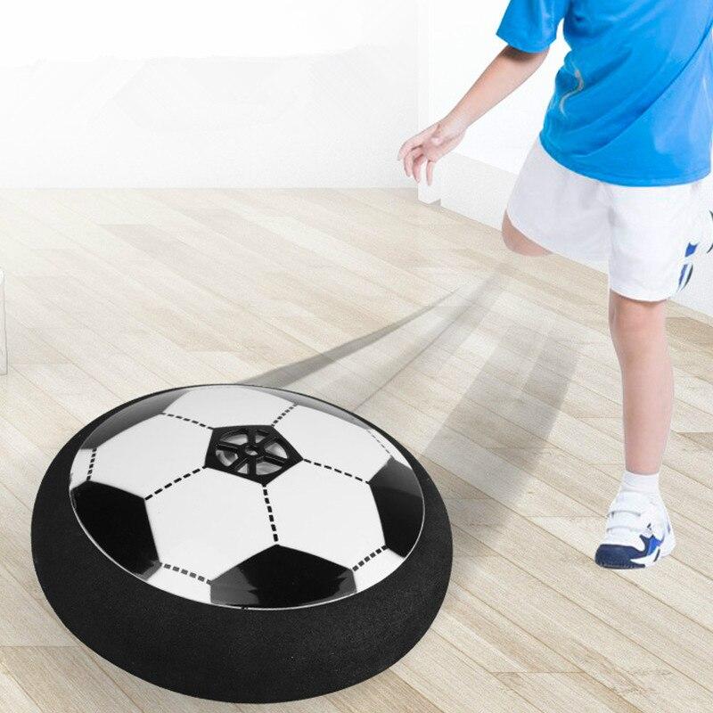 Pasa la bola LED luz intermitente llegada aire de pelota de fútbol juguetes de superficie flotando deslizamiento Juguetes