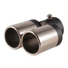 Car Exhaust Pipe Y Type Mufflers Stainless Steel Dual Exhaust End Pipes
