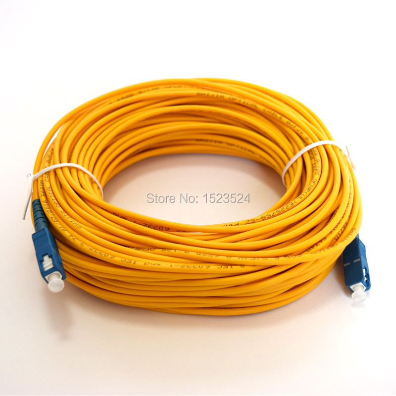 imágenes para Envío Libre SM SX 3mm 30 M 9/125um Cable de 30 Metros de Fibra Óptica Puente SC/PC-SC/PC Patch Cord de Fibra Óptica