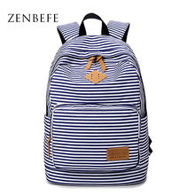 ZENBEGE Striped Backpack  Backpack School For Teenager Girl Laptop Bag Printing Backpack Casual Rucksacks Travel Bag Mochilas