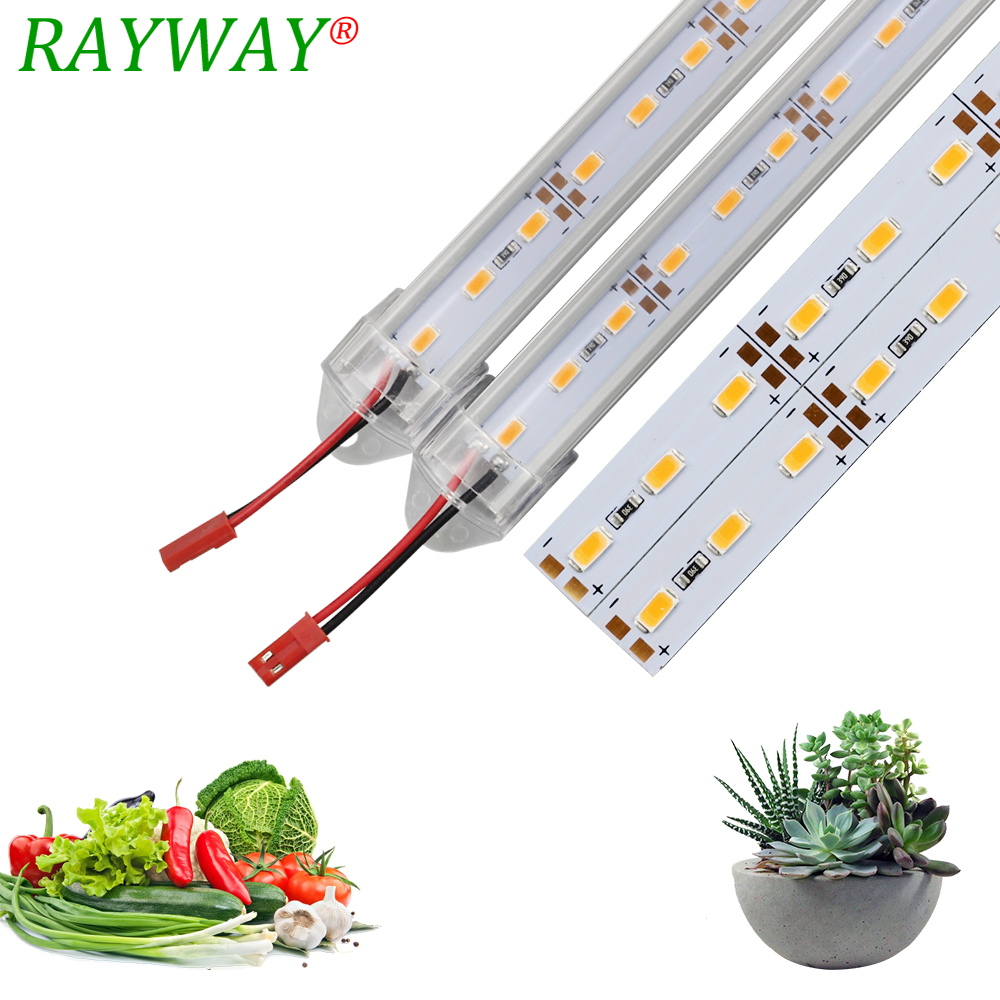 RAYWAY LED me spektër të plotë LED Grow Light Phytolamp SMD 5730 50CM DC12V Llambë tendë e rritjes Led bar dritë për farërat e farave të bimëve