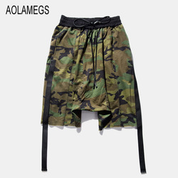 Aolamegs men camouflage military harem cross shorts 2016 tide brand shorts men hip hop dance clothing.jpg 250x250