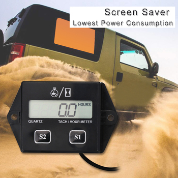 цены Digital Engine Tachometer Tach Hour Meter Digital Tachometer Gauge Inductive Rpm Meter Motorcycle LCD Display For Motor Car Boat