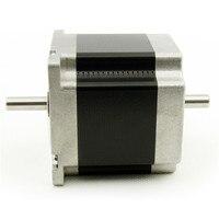 4 derivaciones NEMA 23 Del Motor de Pasos de Doble eje 56mm longitud del motor 0.9nm (129oz-in) 3.0A