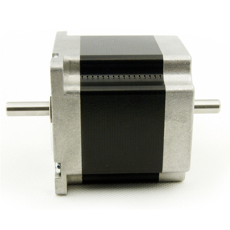 цена на 4 leads Dual shaft NEMA 23 Stepper Motor 56mm motor length 0.9N.m(129oz-in) 3.0A