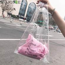 Fashion Holographic Handbags for Girls Clear PVC Handbag Clutch Bag Candid Transparent Colorful Purse Letter Hot Designer Bags(China)